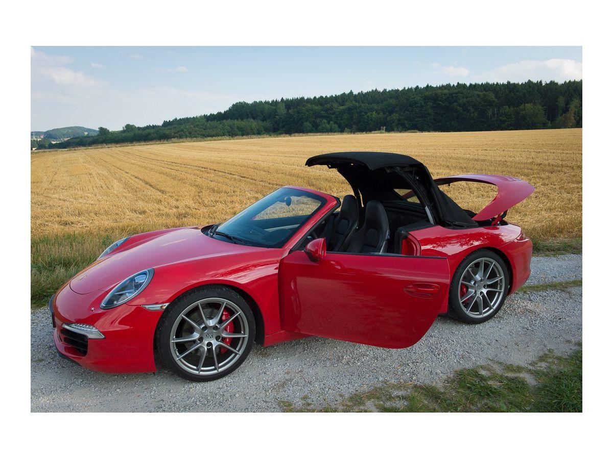 991 Cabrio Verdeck in Sonnenland Dralonstoff für Porsche 911