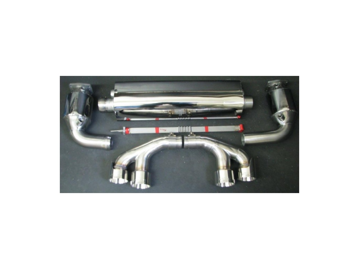 991 Turbo - Turbo S sports exhaust with cat and tailpipes for Porsche