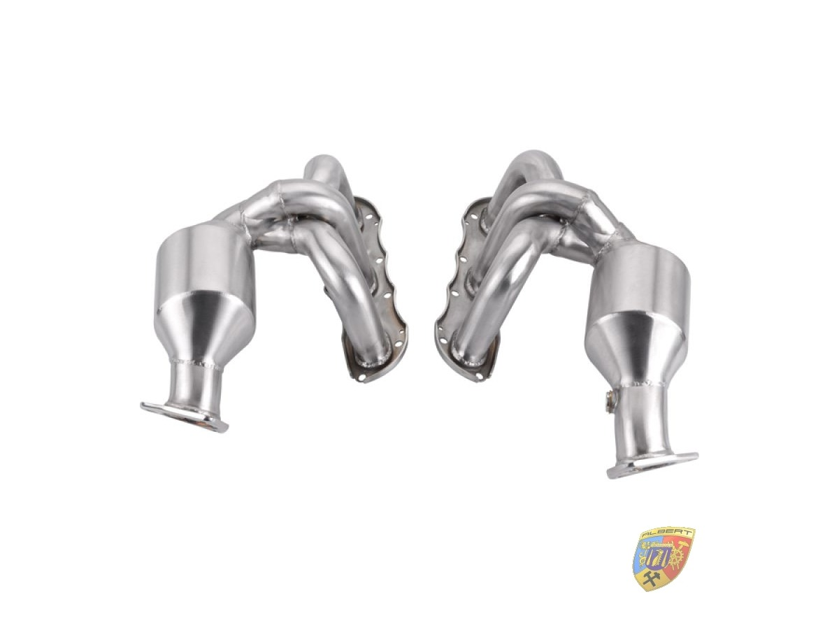 987.2 Boxster - Cayman Porsche exhaust header polished stainless steel