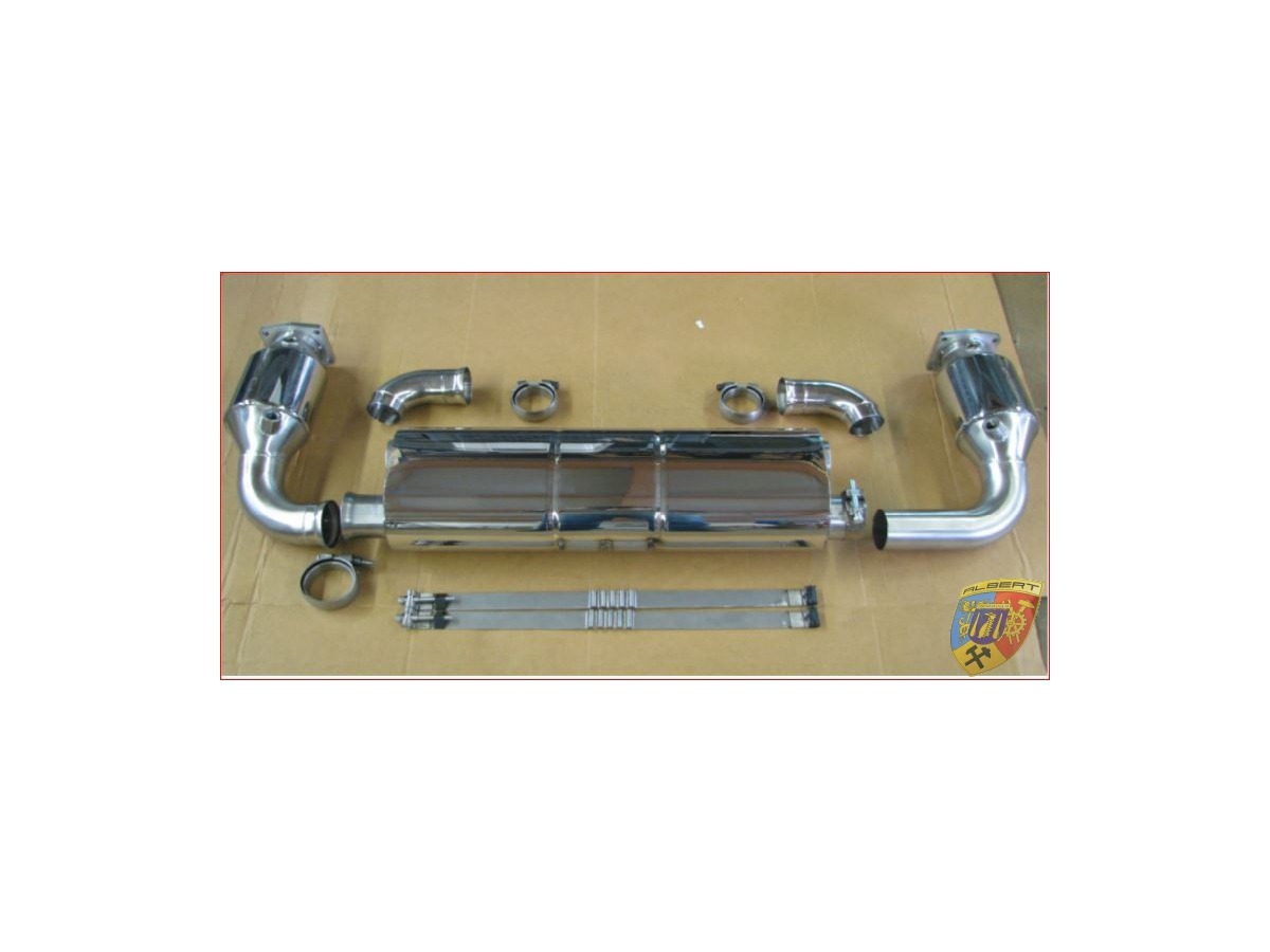 997.1 Turbo exhaust stainless steel with performance increase Porsche 911 for serial Tips