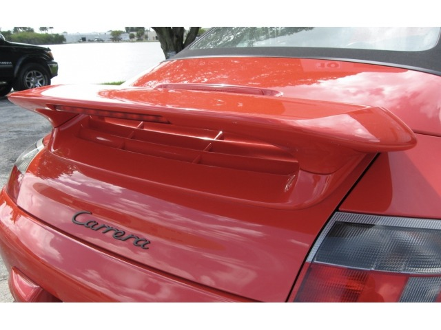 996 Carrera rear spoiler aerokit with bonnet adapter Porsche made of GFK ( used )