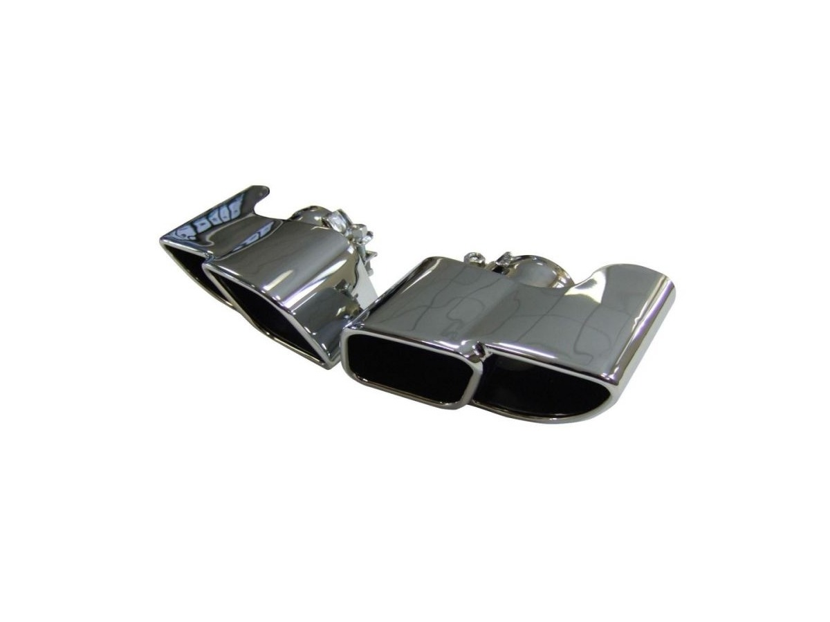 997.1 Carrera tailpipes in square design high-gloss polished stainless steel