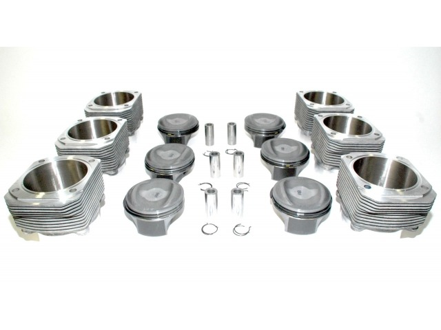 964 - 993 Carrera 3.8 liter piston and cylinder 11.4 : 1 upgrade kit 107 mm Porsche 911