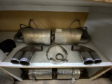 996 - 997.1 Turbo sports exhaust Remus made of stainless steel complete with catalytic converters