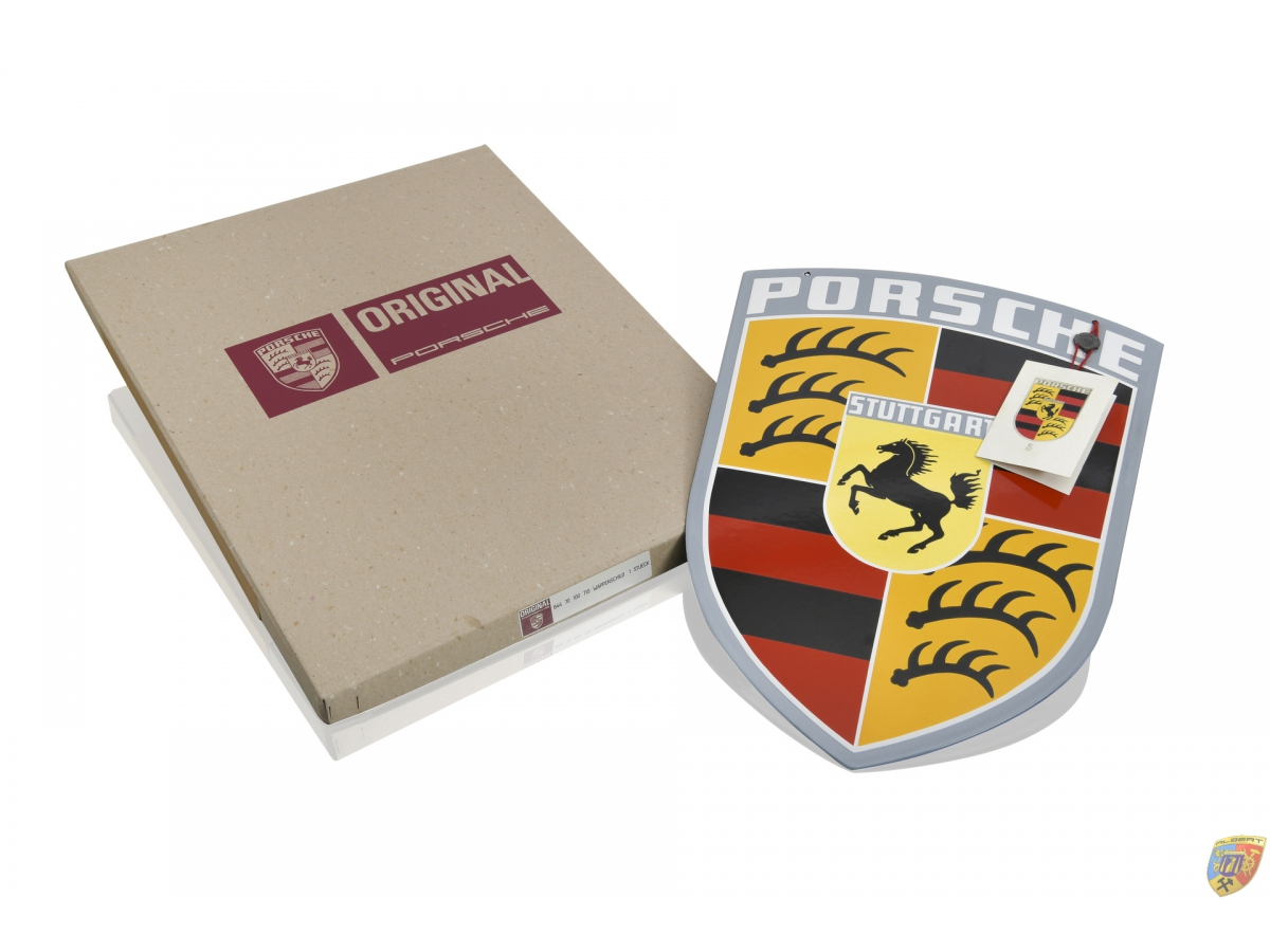 Porsche Wappen Schild Emaille Classic Porschewappen