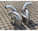991 - 997 GT3 R RSR additional stainless steel silencer for Porsche 911