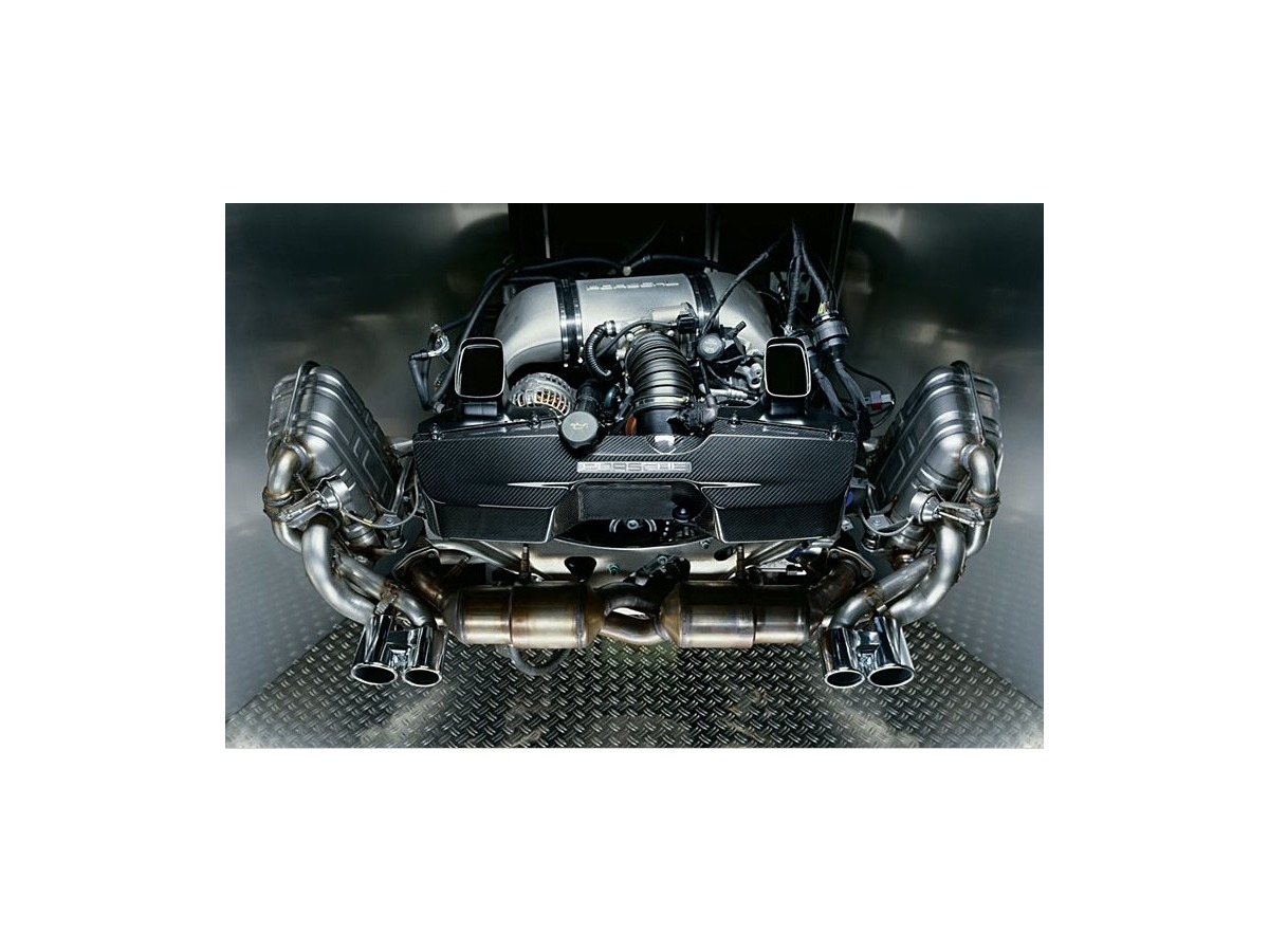 997.2 Carrera sports exhaust flap exhaust original Porsche