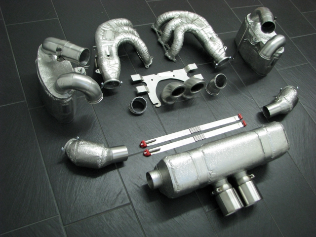 991.2 GT3 Cup exhaust complete ww. with thermal insulation Porsche 911