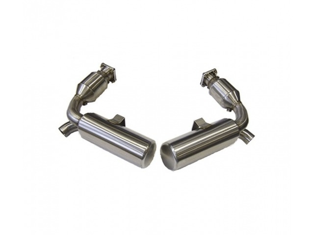 997.1 Turbo GT2 sports exhaust system stainless steel for Porsche