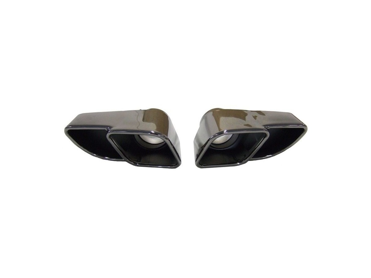 997.1 Turbo dark chrome finish tailpipes Stainless steel for Porsche