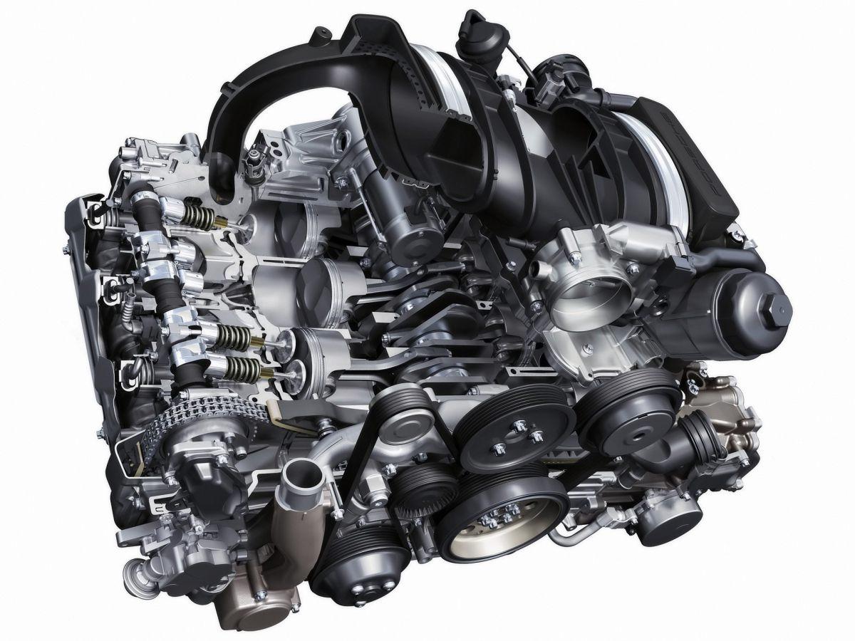 997 DFI Porsche engine block with 3.8 liter cylinder and piston in exchange